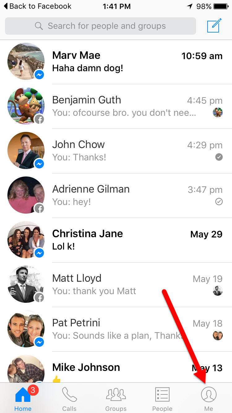 how to delete facebook messenger messages spam