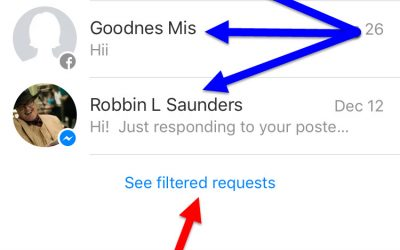 Find Facebook Other Messages Spam Folder Via Messenger App or URL