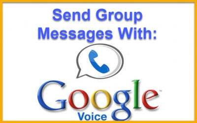 How to Send Group Texts (SMS messages) with Google Voice.